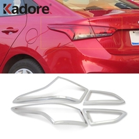 For Hyundai Solaris Accent 2017 2018 2019 ABS Chrome Car Rear Lamp Cover Taillight Tail Light Frame Trim Exterior Accessories