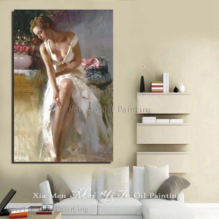 New Art 100% Hand Painted Abstract Portrait Oil Painting On Canvas For Home Decoration Wall Pictures No Framed 1peices Canvas