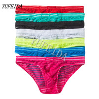 7PCS/LOT Man Underwear Briefs Comfortable Panties Men Male Underwear Men's Briefs Underwear Sexy Striped Nylon Underpants Tanga
