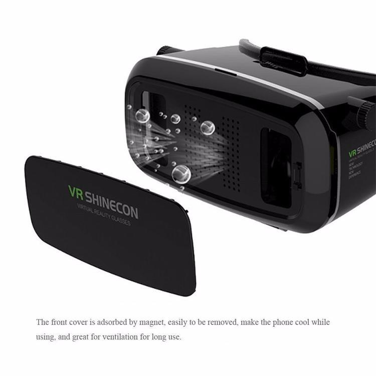18 Original Shinecon VR Pro Virtual Reality 3D Glasses Headset VRBOX Head Mount Google Cardboard Helmet For Smartphone 4-6inch 19