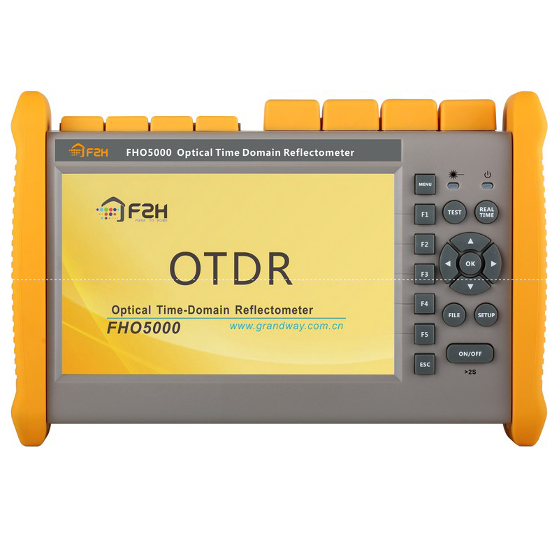 Handheld OTDR FHO5000-D26-SM-OTDR-1310-1550nm-26/24dB,Integrated VFL 10MW Touch Screen Optical Time Domain Reflectometer BY DHL