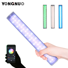 Yongnuo yn60pro luz led rgb handheld fotografia luz de preenchimento fora tiro vídeo built in bateria móvel app controle