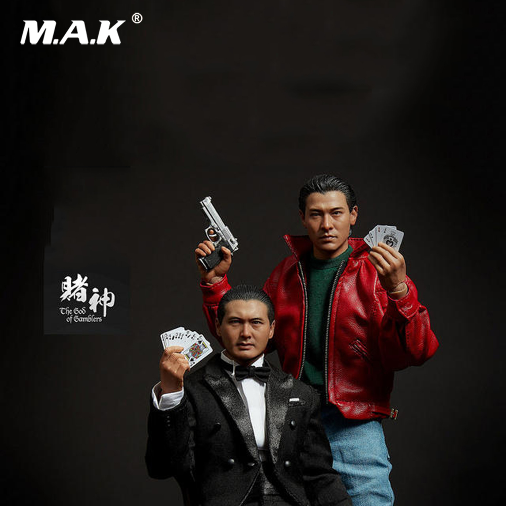 Collectible Full Set Figure 1/6 God of Gamblers Film Asia Gao Jin Chow Yun Fat Little Knife Lau Andy Collection for Fans Gift