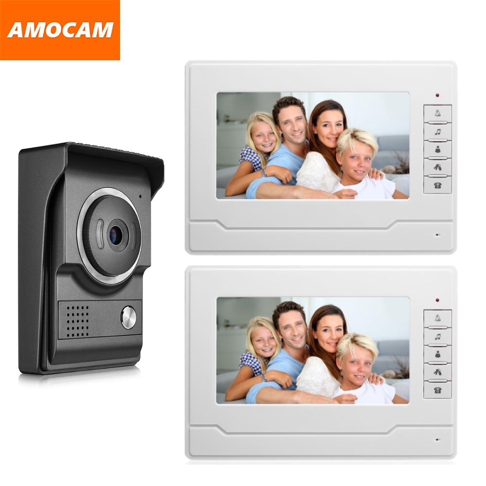 7 inch Monitor Video Intercom Door Phone Doorbell system Video interphone system for Home villa 1-IR camera 2- LCD screen