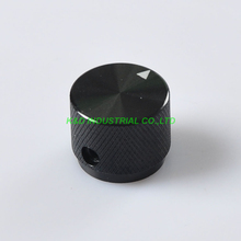 2pcs Black Aluminum Potentiometer Control Volume Knobs 20x15.5mm Tube amp Parts Socket