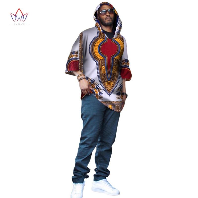 Mode afrique T-shirt pour hommes Dashiki grande taille afrique vêtements Bazin Riche à manches courtes avec casquette hommes vêtements WYN224