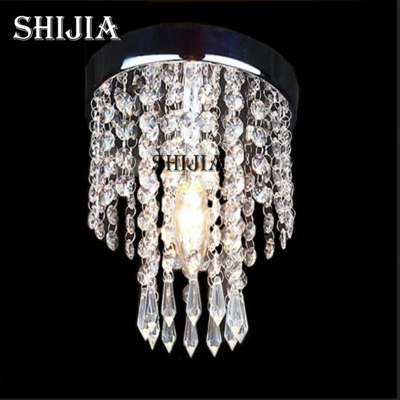 Modern Crystal LED Ceiling Lights for Living room Aisle Balcony Bedroom Study Bar Hotel Restaurant Ceiling Lamp luxury crystal led ceiling lights restaurant aisle living room balcony lamp modern lighting for home decoration adjustable light