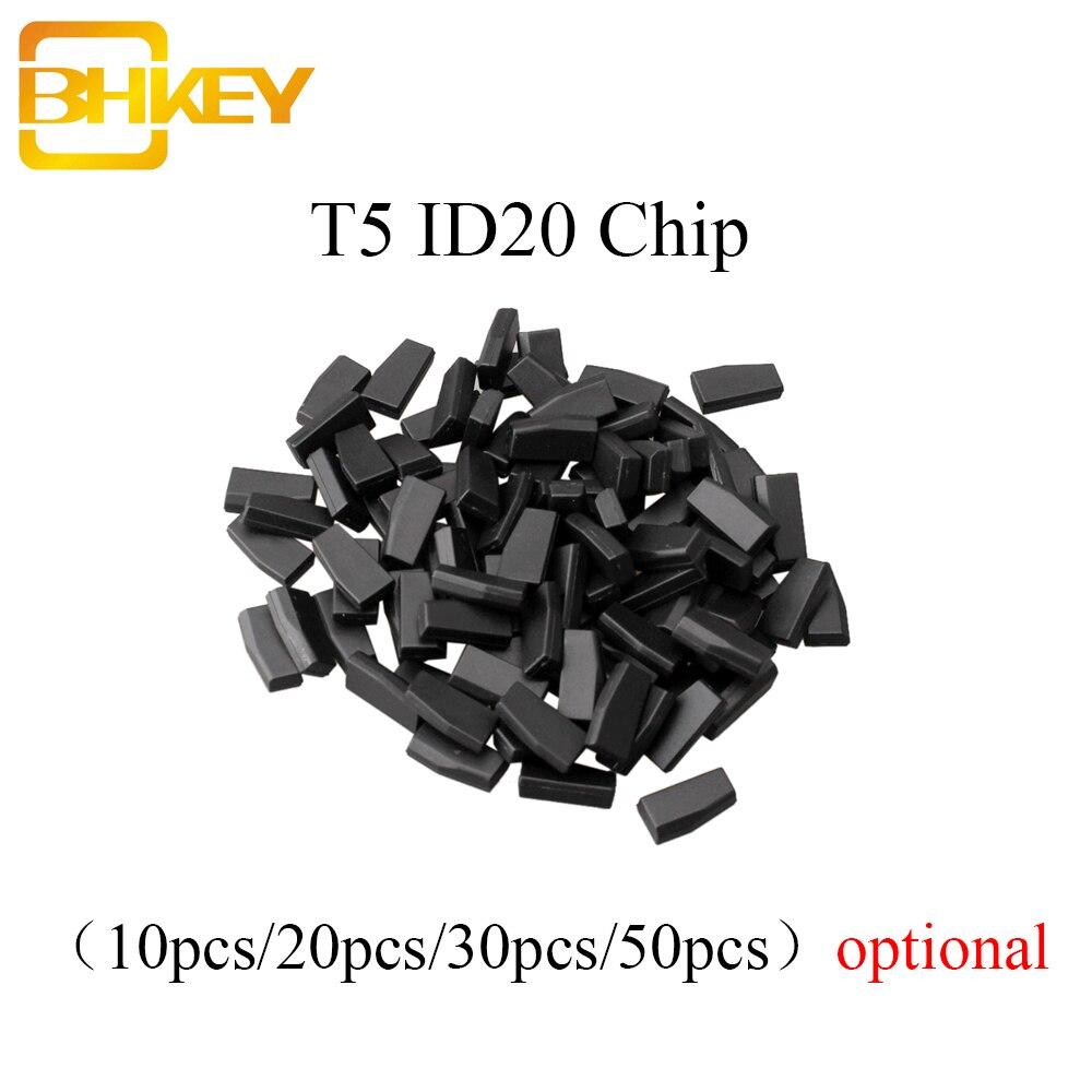 BHKEY 5X 10X 20X 50X T5-20 чип-транспондер пустой карбоновый ID T5 для автомобильного ключа, чип для автомобильного ключа