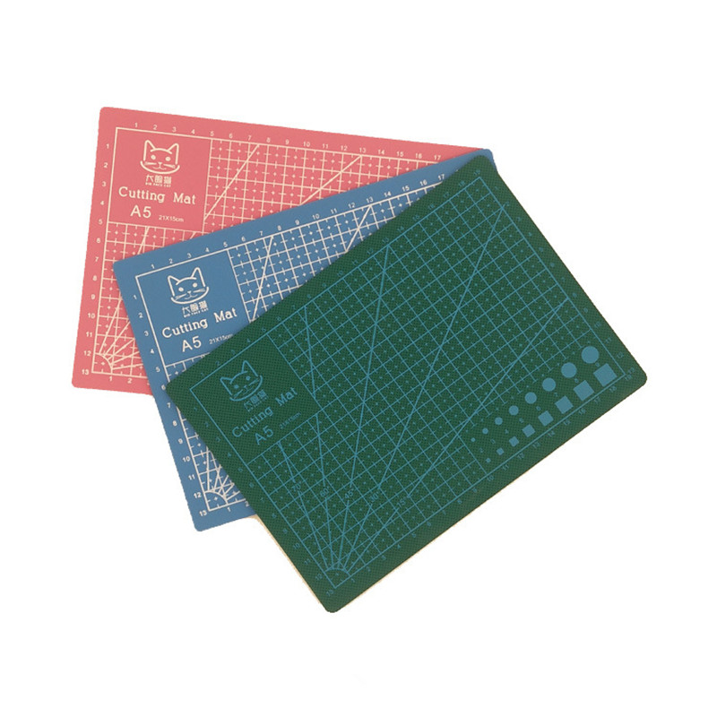 A5 Pvc Self Healing Cutting Board Mat Double-sided Fabric Leather Craft DIY Cutting Pad Quilting Accessories Paper Craft ToolsA5 Pvc Self Healing Cutting Board Mat Double-sided Fabric Leather Craft DIY Cutting Pad Quilting Accessories Paper Craft Tools