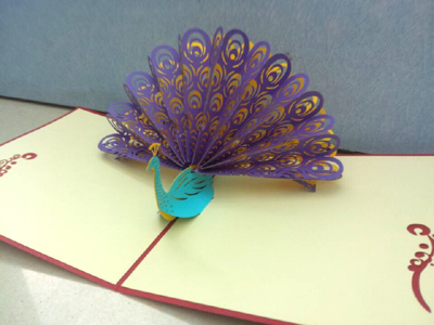 Free shipping 3d handmade three dimensional greeting card teachers free shipping 3d handmade three dimensional greeting card teachers day gift peacock blessing cards m4hsunfo