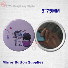 Customized New 75MM 3″ LIVEWORK CUTE mini makeup mirrors kawaii girls cosmetic mirror (Plastic) MOQ100pcs