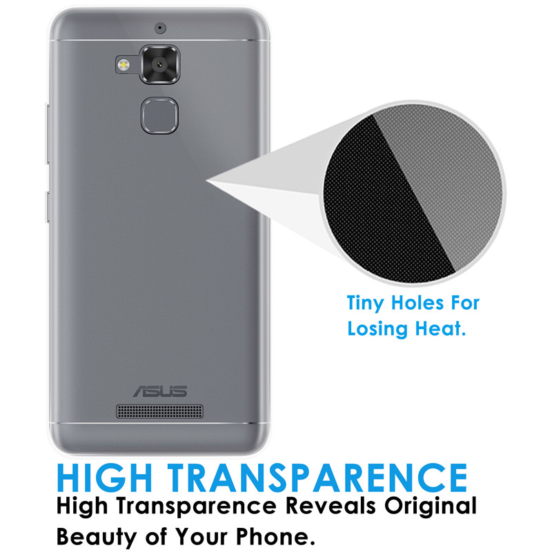 Qosea For Asus Zenfone 3 Max ZC5TL Phone Case Transparent Silicone Ultra-thin Soft TPU For Zenfone 3 ZC5TL Protective Cover 5