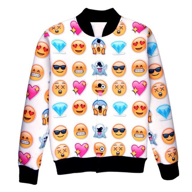 Jacket Man Winter Long Sleeve 3D Emoji Animal Printed Sweatshirt Soft Warm Round Neck Coat Unisex Jacket Tattoo Printed