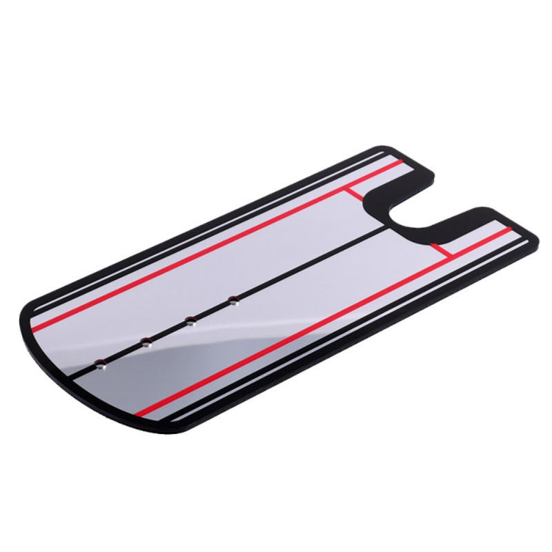 Golf poniendo espejo alineación ayuda a la formación Swing TrainerGolf Swing recta práctica ojo línea de Golf accesorios 14,5x32 cm
