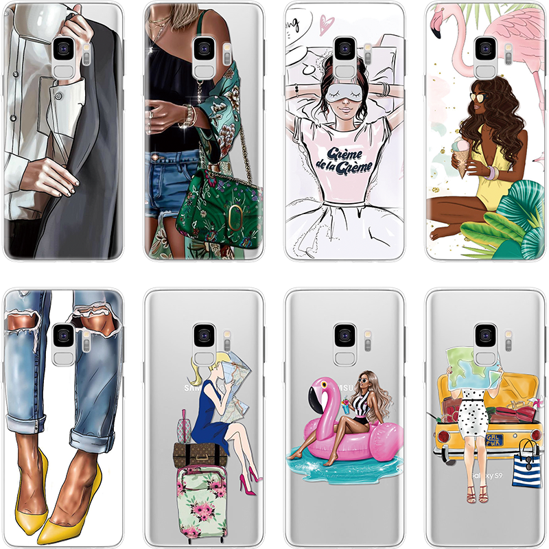 <font><b>Sexy</b></font> Bikini Girl Clear silicone Soft Cover For TPU Samsung Galaxy J5 2017 J4 Plus J6 2018 J3 <font><b>J7</b></font> Duo J8 Plus Pro <font><b>2016</b></font> Prime Case image