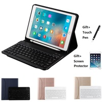 Ultra thin Wireless Bluetooth Keyboard With Pencil Holder Case Cover For iPad Air 1 2 iPad 2017 2018 9.7 Pro Air 2019 10.5 inch