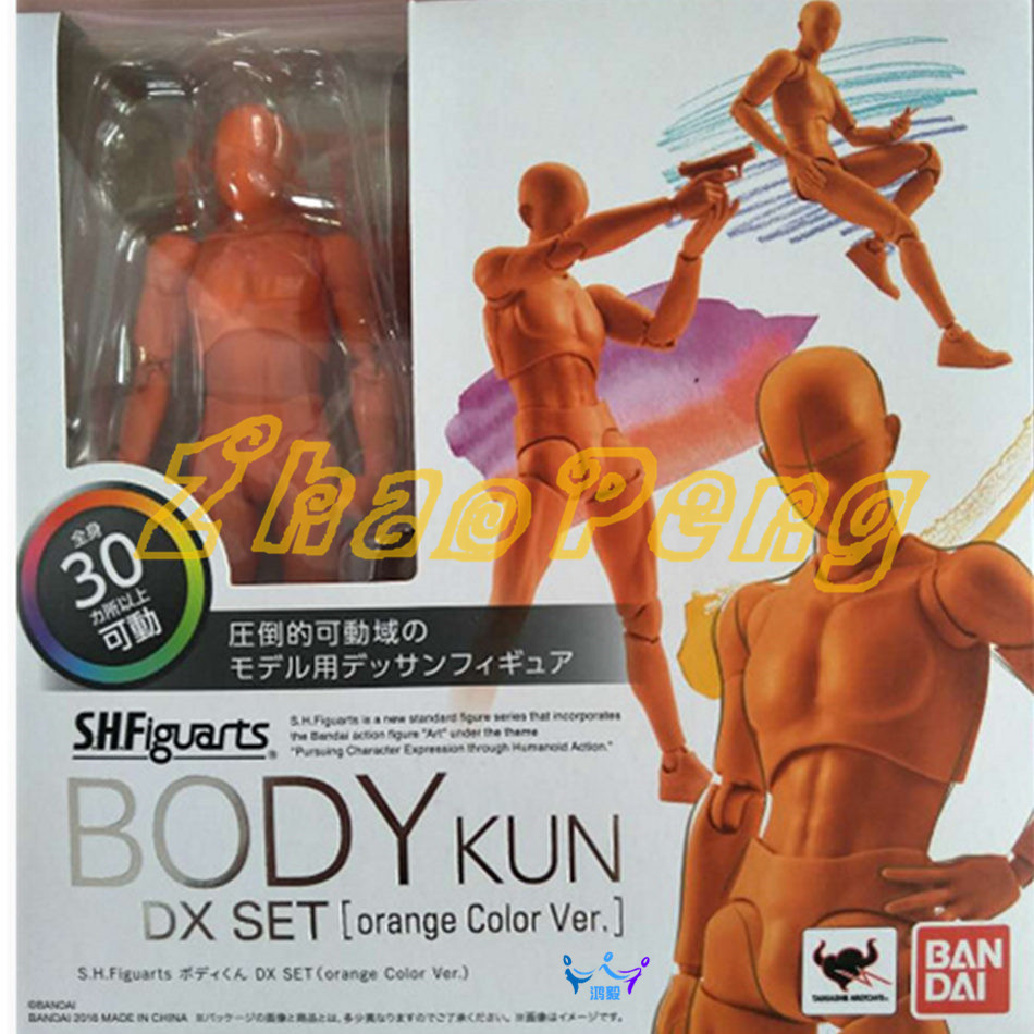 2 style Archetype He Archetype She Ferrite SHF body kun / BODY CHAN PVC Movable joints Action Figure Collectible Model Toy shfiguarts pvc body kun body chan body chan body kun grey color ver black action figure collectible model toy