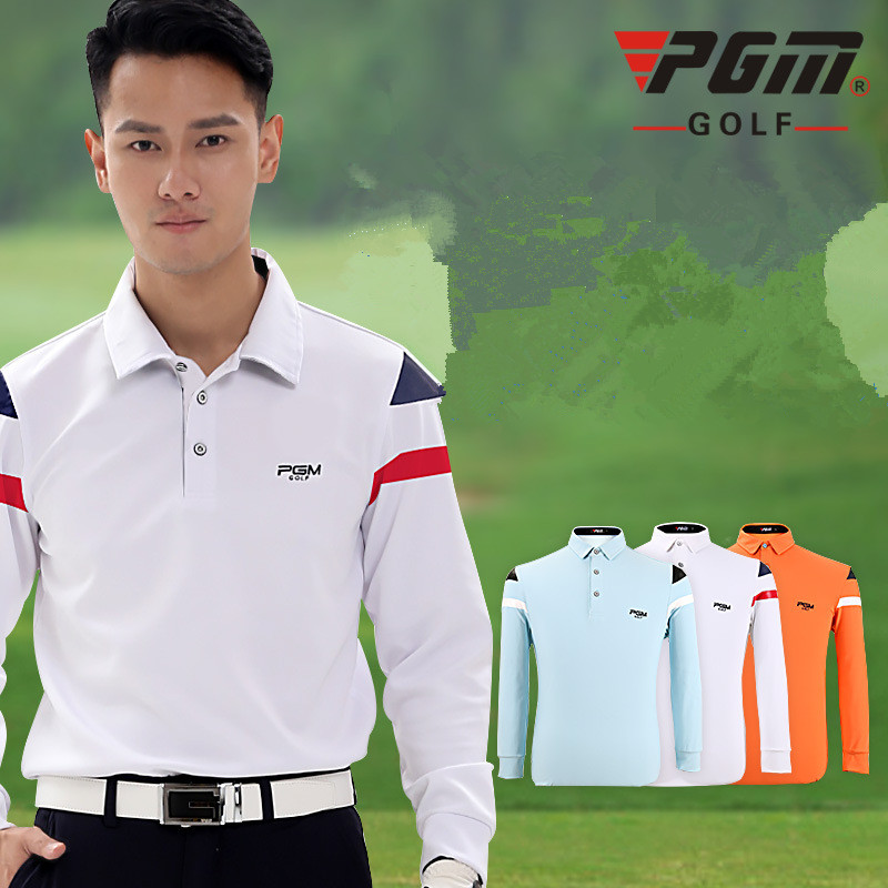 2017 autumn winter PGM golf apparel mens Quick Dry High elasticity Thick Long Sleeved Golf T-shirt softness Polo Shirt
