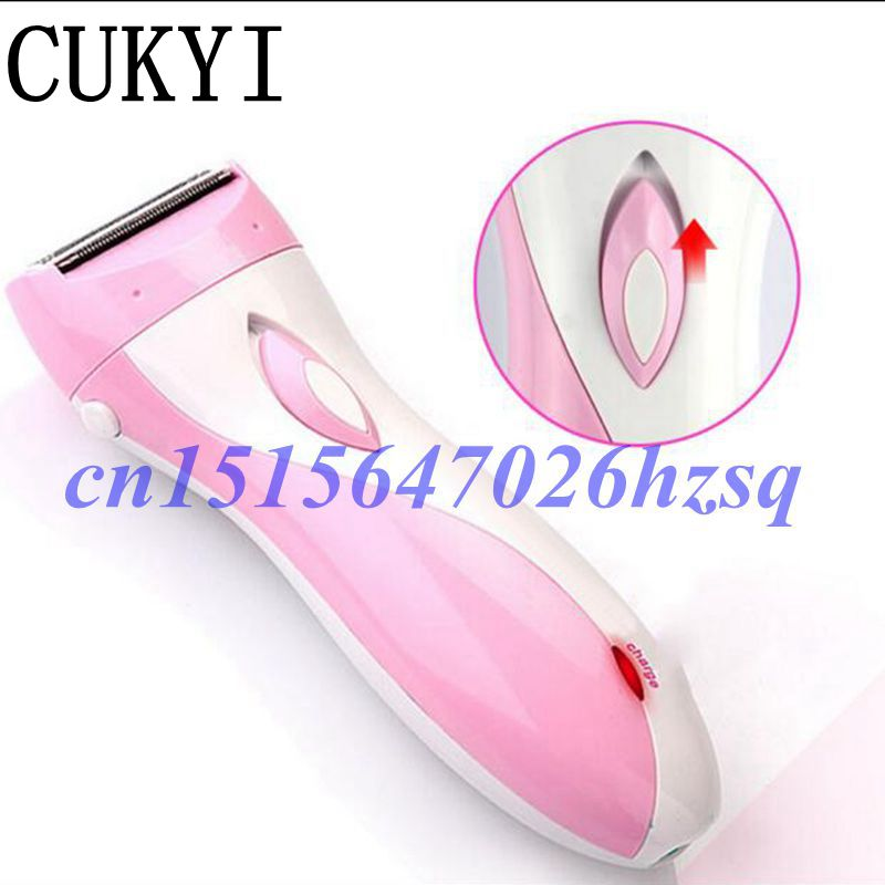 CUKYI Rechargeable Women Epilator Electric Shaver for Body Hair Removal Lady Bikini Shaving Machine philips brl130 satinshave advanced wet and dry electric shaver
