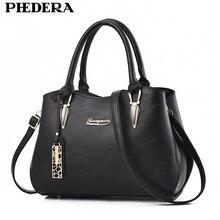 PHEDERA Marke Mode-handtaschen für Frauen Schwarz Qualität Pu-leder Business Elegante Herbst Winter Damen Geldbörse