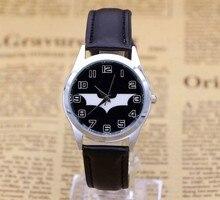 Новый Бэтмен Дизайн Модные женские платье Водонепроницаемый аналоговые наручные кварцевые часы унисекс Женская Повседневная детей смотреть