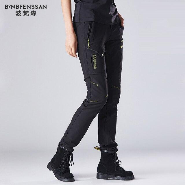 חדש נשים טיולים מכנסיים צמר לעבות מכנסיים חיצוניים עמיד למים Windproof תרמית עבור קמפינג סקי טיפוס טיולים מכנסיים