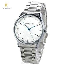 Marque Temps Histoire Anti-horaire Classique Montre De Mode Hommes Casual Bracelet À Quartz montres Bracelet En Acier Inoxydable Étanche