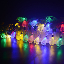 3aa battery powered 2m led multicolor metal drip string fairy lights led christmas holiday wedding party decoration festi lights - Led Multicolor Christmas Lights
