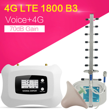 4G Internet Signaal Booster 70dB Gain 2G Voice Cellulaire Repeater Lte 1800Mhz 4G Cellulaire Signaal Repeater mobiele Signaal Versterker