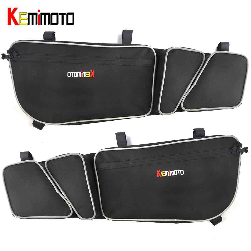 KEMiMOTO UTV Passenger Driver Side Door Bags Side Storage Bag Knee Pad for Can Am Maverick X3 R Maverick X3 Max R 4x4 Turbo DPS spark storage bag portable carrying case storage box for spark drone accessories can put remote control battery and other parts