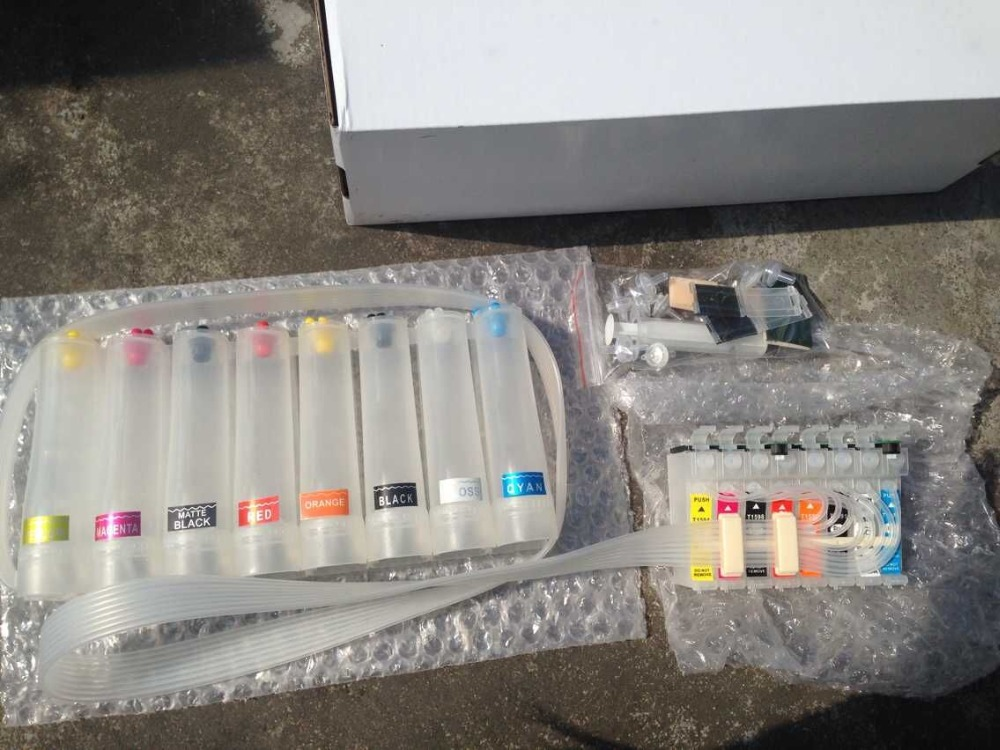 Continuous Ink Supply System For EPSON R2000 Photo R2000 CISS CIS Empty for epson stylus r3000 ciss for epson t1571 t1579 continuous ink supply system 9 colors