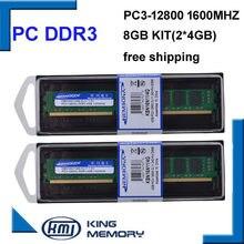 KEMBONA – mémoire de serveur d'ordinateur de bureau, modèle DDR3, capacité 8 go 8 go (Kit de 2x4 go), dissipateur de chaleur, LONGDIMM, nouveauté 1600 PC3-12800