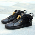 new style shoes high help couples leisure shoes for men shoes right Zhilong with Gd leather metal lock gz shoes