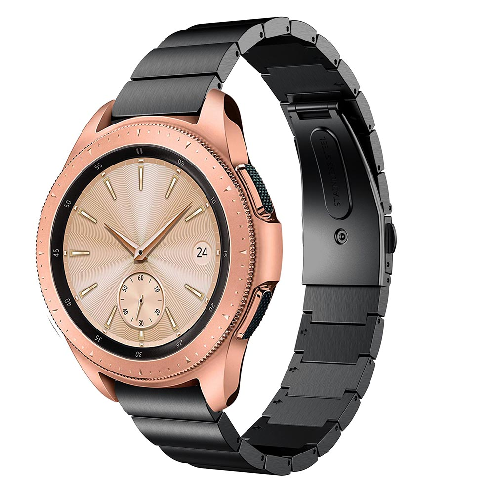 Metal Strap For Samsung Galaxy Watch 42MM band strap Stainless Steel Bracelet For Huami Amazift Bip Replace Strap Wristbands in Watchbands from Watches