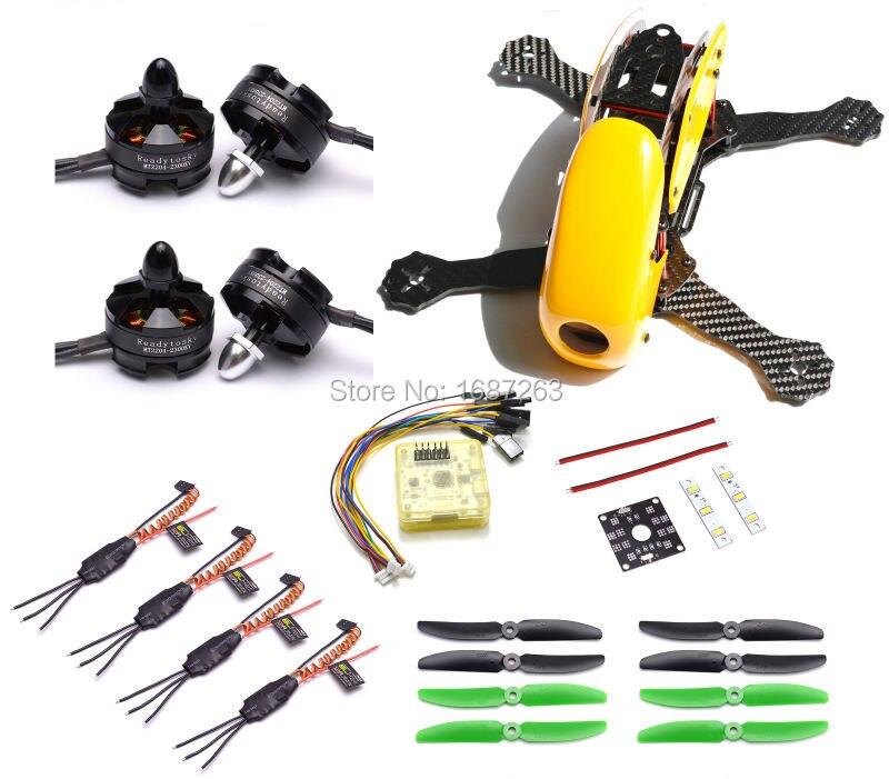 Robocat 270 270mm Carbon Fiber Frame CC3D EVO Board 2403 2204 2300kv Motor 12A BLHeli ESC