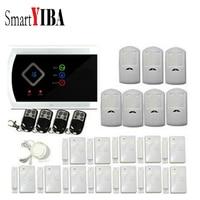 Smartyiba приложение Управление touch Панель Охранной Сигнализации Системы + движения PIR Сенсор gsm Беспроводной проводной безопасности Системы до