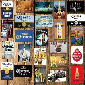 5251bf1b3e6 WellCraft Corona Beer Metal Signs Beach Wall Poster Decor