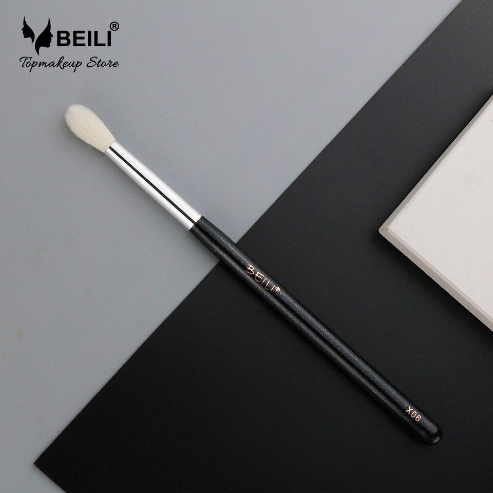 BEILI X06 Black Eye Shadow Tampered blending Concealer Natural Goat Hair Makeup Brushes 6