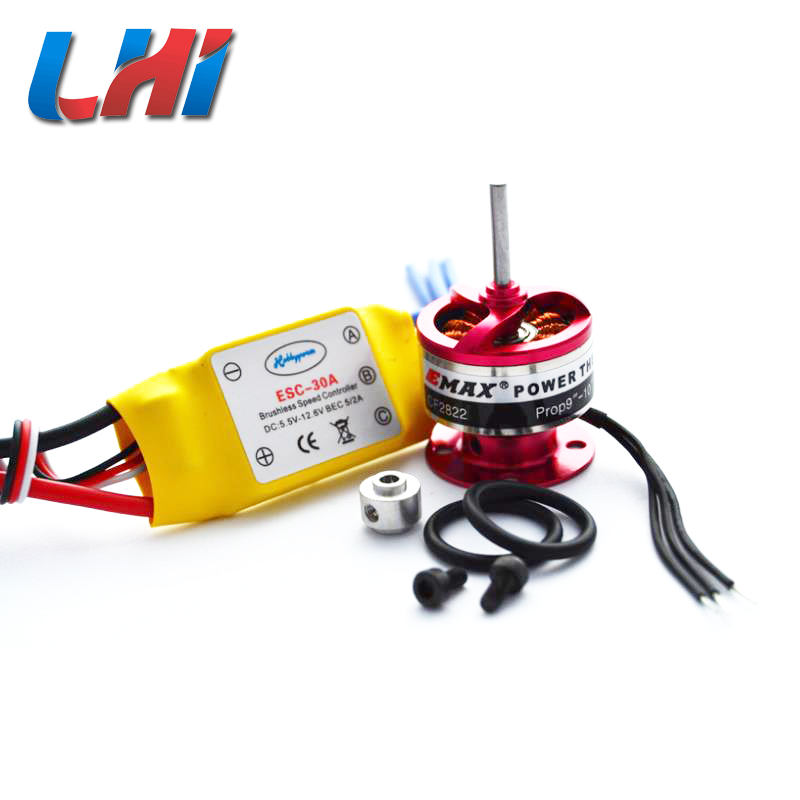 2pcs drone Brushless 30A Motor ESC Speed Controller+ EMAX <font><b>1200KV</b></font> Motor for quadcopter image