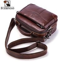 FUZHINIAO Quality Genuine Leather Men's Shoulder Bag Male Handbags Bolsas Crossbody Bag Tas Sling Tote Travel for Small Chest