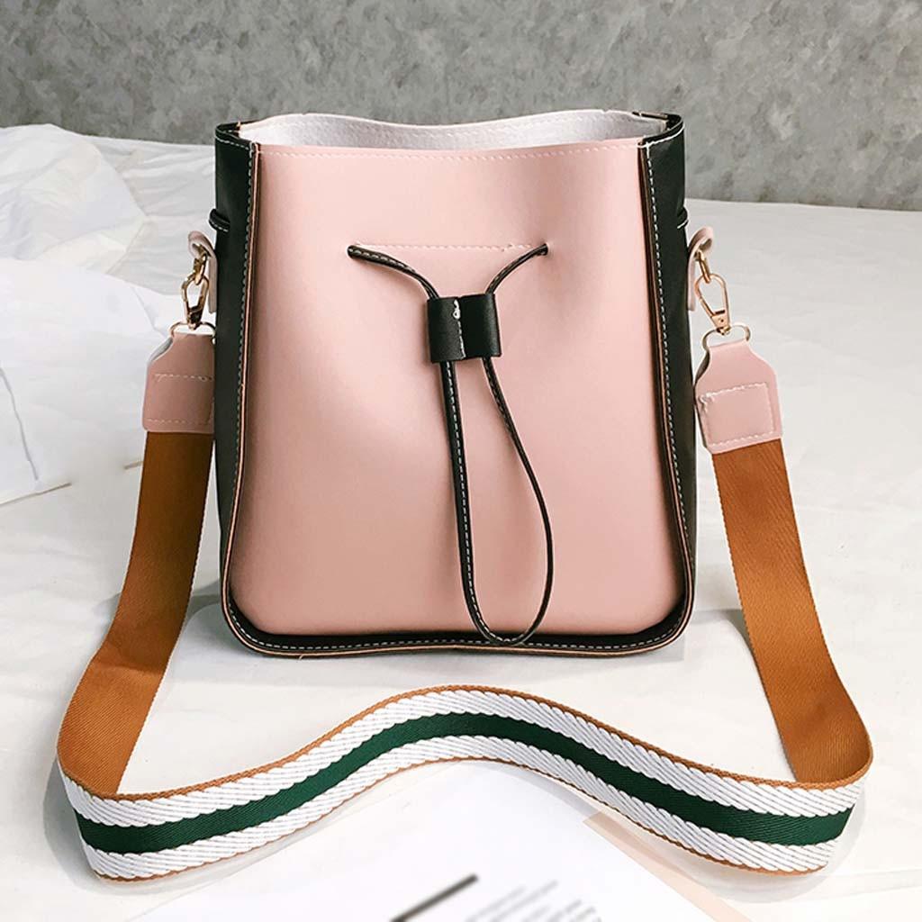 Handbag Messenger-Bags Bucket-Shoulder-Bag Crossbody-Bag Sac Drawstring Ladies Synthetic-Leather