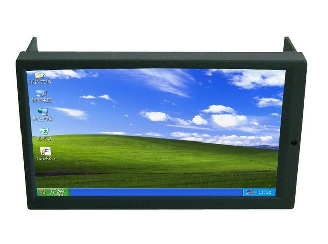 Free Shipping High Brightness 2DIN 7 Inch LED Touch Screen Monitor with VGA and Auto Switching AV2 for Reverse Camera for Car PC