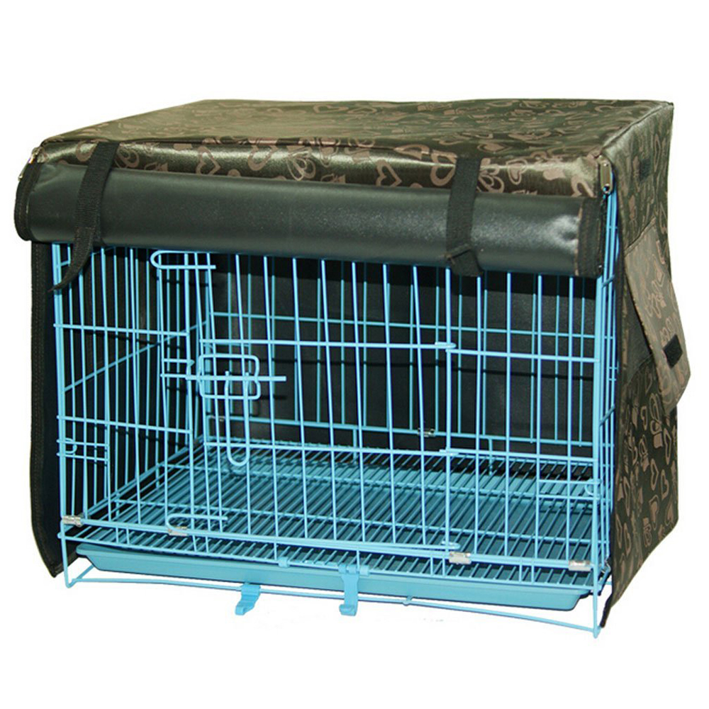 Practical and Waterproof Pet Indoor/Outdoor Cabana Crate Cover Dog Kennel Cage Cover