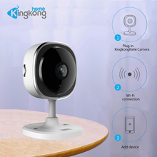 Kingkonghome 1080P Video Surveillance Mini IP Camara Indoor IR Night Vision WiFi Wide Angle Wireless Security Home Baby Monitor