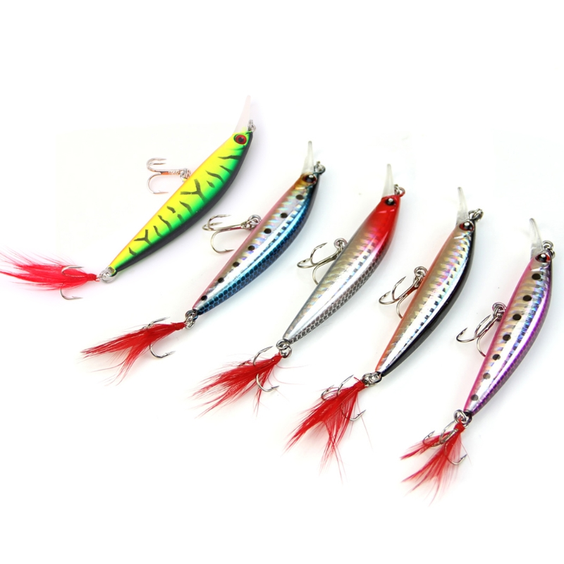 1pc Floating Fishing Lures Minnow Crank Bait Crankbait Hook Tackle Treble 12cm