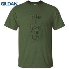 TODAY I SAVED ONE LIFE vegan t-shirt