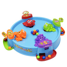 Kids Educationa Toy Baby Toys Frog Grabs Ball Game Parent-child Interactive Table Games Feeds Frog Swallow Beads Eat Beans frog eating beans 2018 funny board games toys for children interactive desk table game family game educational toys kid gifts
