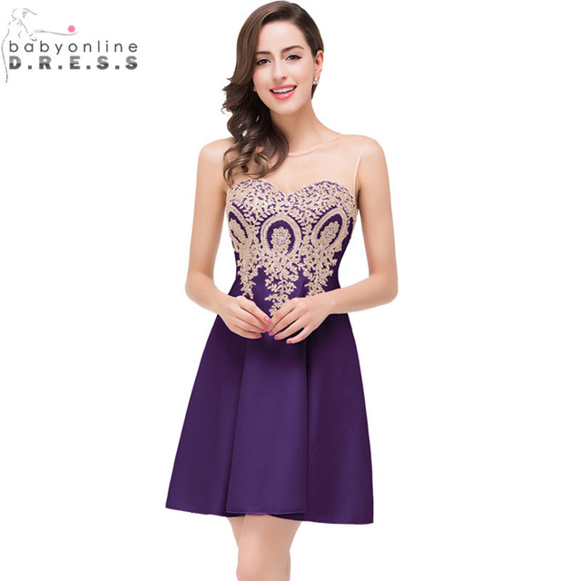 e973a45c8541d Robe de Soiree Courte Lace Dark Purple Homecoming Dresses 2017 Real Image  Burgundy Short Prom Dresses