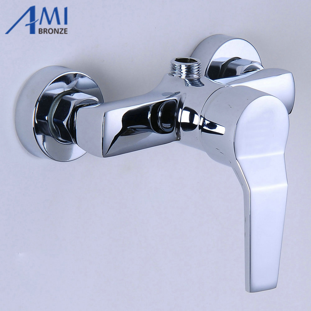 Surface Mounted Brass Shower Faucet Solar Water Heater Mixing Valve ...
