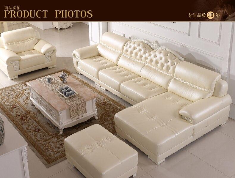 US $2113.0 |Europa Möbel wohnzimmer ecke lounge sofa Aus Echtem leder  B66-in Wohnzimmersofas aus Möbel bei AliExpress
